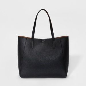 Reversible Tote Handbag Black Brown - A New Day